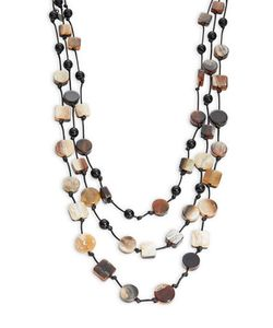 Kenneth Jay Lane | Multi-Tiered Geo Scatter Necklace