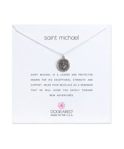 Dogeared | Reminder Saint Michael Sterling Pendant Necklace