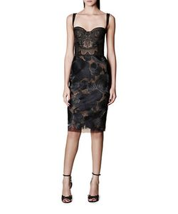 Marchesa Notte | Embroidered Sleeveless Dress