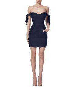 Misha Collection | Tie Off Shoulder Bodycon Dress