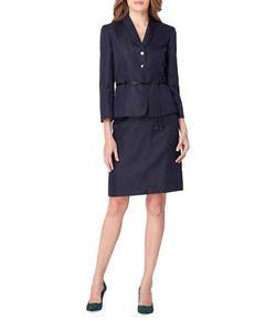 Tahari Arthur S. Levine | Patterned Skirt Suit Set