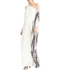 Halston Heritage | One-Shoulder Printed Gown
