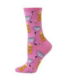 Hot Sox | Honeybear Cotton-Blend Socks