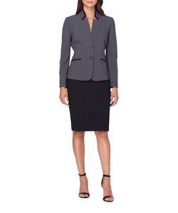 Tahari Arthur S. Levine | Petite Two-Button Jacket And Skirt Suit