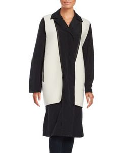 Dkny Pure | Long Peacoat And Removeable Vest Set
