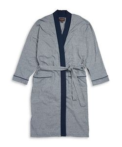 Black Brown | Striped Cotton-Blend Robe