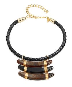 Kenneth Jay Lane | Braided Leather Necklace