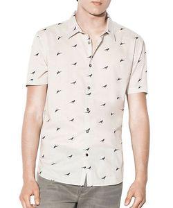John Varvatos | Bird Printed Shirt