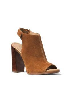 Michael Kors Collection | Maeve Suede Block Heel Slingback Sandals
