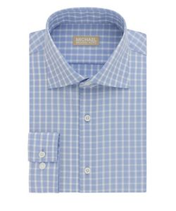 Michael Michael Kors | Slim-Fit Plaid Cotton Dress Shirt