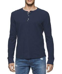Calvin Klein Jeans | Mixed Media Waffle Henley Tee