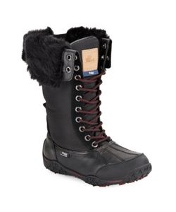 Pajar | Faux Fur-Cuff Waterproof Leather Boots
