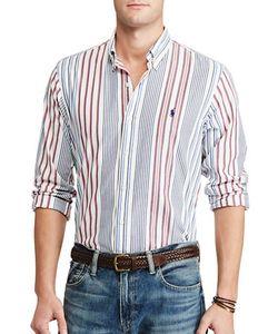 Polo Ralph Lauren   Standard-Fit Multistriped Cotton Shirt