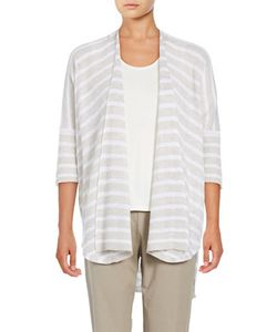 Eileen Fisher | Striped Open Front Cardigan