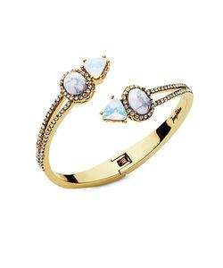 Jenny Packham   Tone Hinged Bangle Bracelet