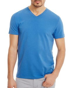Kenneth Cole | V-Neck Solid Cotton Tee