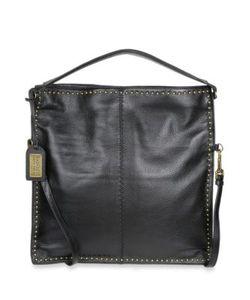 Badgley Mischka | Zoe Leather Studded Hobo Bag