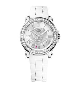 Juicy Couture | Ladies Pedigree Silvertone And Crystal Watch