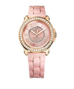 Juicy Couture | Ladies Pedigree Goldtone And Silicone Watch