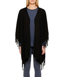 DKNY | Open Fringed Cape