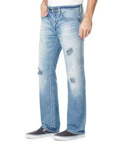 BUFFALO David Bitton | Six-X Resort Distressed Slim-Fit Jeans