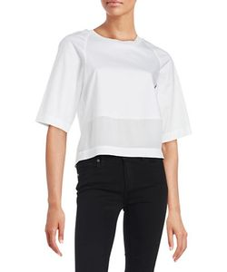Dkny Pure | Mixed Media Elbow Sleeved Top
