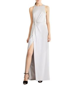 Halston Heritage | Draped Satin Gown