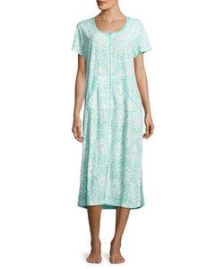 Miss Elaine | Printed Zippered Robe