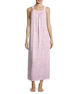 Oscar de la Renta | Printed Knit Sleeveless Nightgown