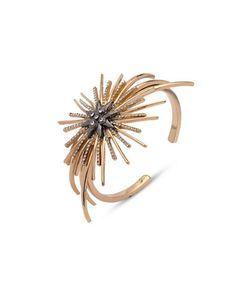 Jenny Packham | Two-Tone Hematite Starburst Cuff Bracelet