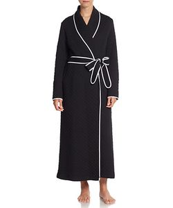 Where Mountains Meet   Contrast-Piping Jersey Robe