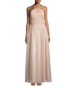 Vera Wang | Pleated Halter Gown