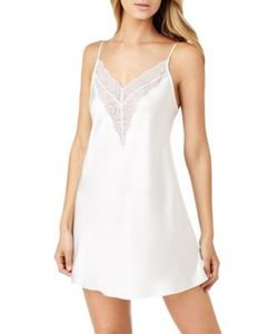 H Halston | Satin And Lace Chemise