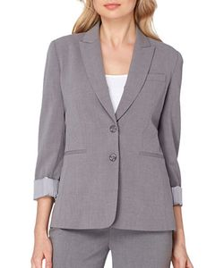 Tahari Arthur S. Levine | Heathered Two-Button Suit