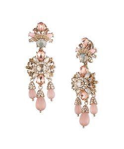 Marchesa | Drama Goldtone Chandelier Earrings