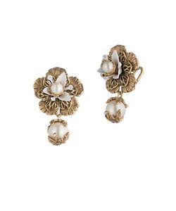 Marchesa | Faux Pearl Drop Earrings