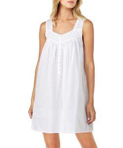 Eileen West   Swiss Dot Sleeveless Nightgown