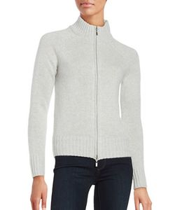 Lord & Taylor | Cashmere Zip-Front Cardigan