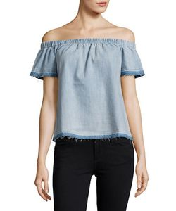 True Religion | Chambray Off-The-Shoulder Top