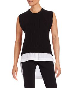 Dkny Pure | Crewneck Sleeveless Mock Layer Sweater
