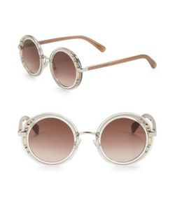 Jimmy Choo | 50mm Embellished Round Sunglasses