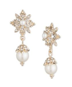 Marchesa | Simulated Pearls And Goldtone Brass Drop Earrings