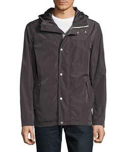 Cole Haan | Solid Long-Sleeve Rain Jacket