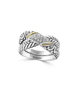 Effy | Diamond And 18k Embossed Ring