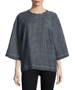 Dkny Pure | Textured Three-Quarter-Sleeve Top