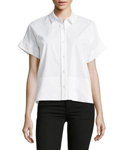 Lord & Taylor | Side Slit Short-Sleeve Shirt