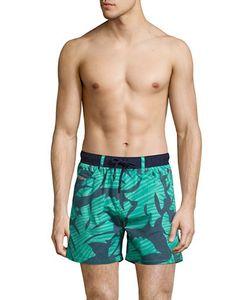 Diesel | Leaf-Print Swim Shorts