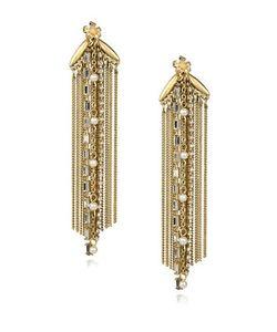 Danielle Nicole | Blossom Faux-Pearl And Semi-Precious Stone Fringe Earrings
