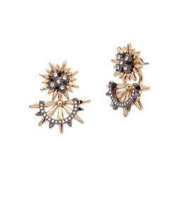 Jenny Packham | Two-Tone Front Back Stud Earrings