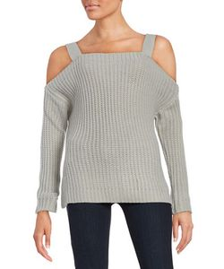 Honey Punch | Knit Cold-Shoulder Sweater